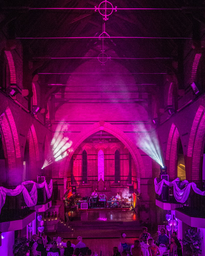Lighting Hire church colour sound