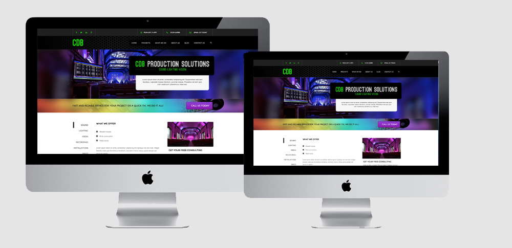 Website, Website Design, new website for hire company in lighting and sound industry