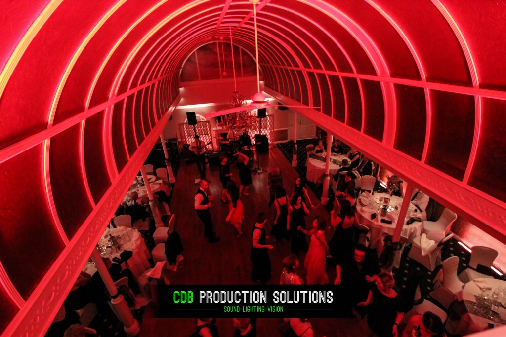 charity ball room lighting and sound hire