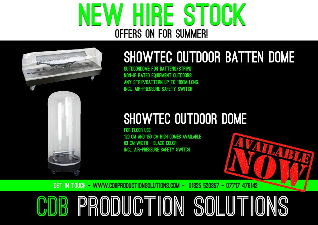 Showtec Waterproof Outdoor Lighting Dome, Showtec Outdoor Dome - Batten XL