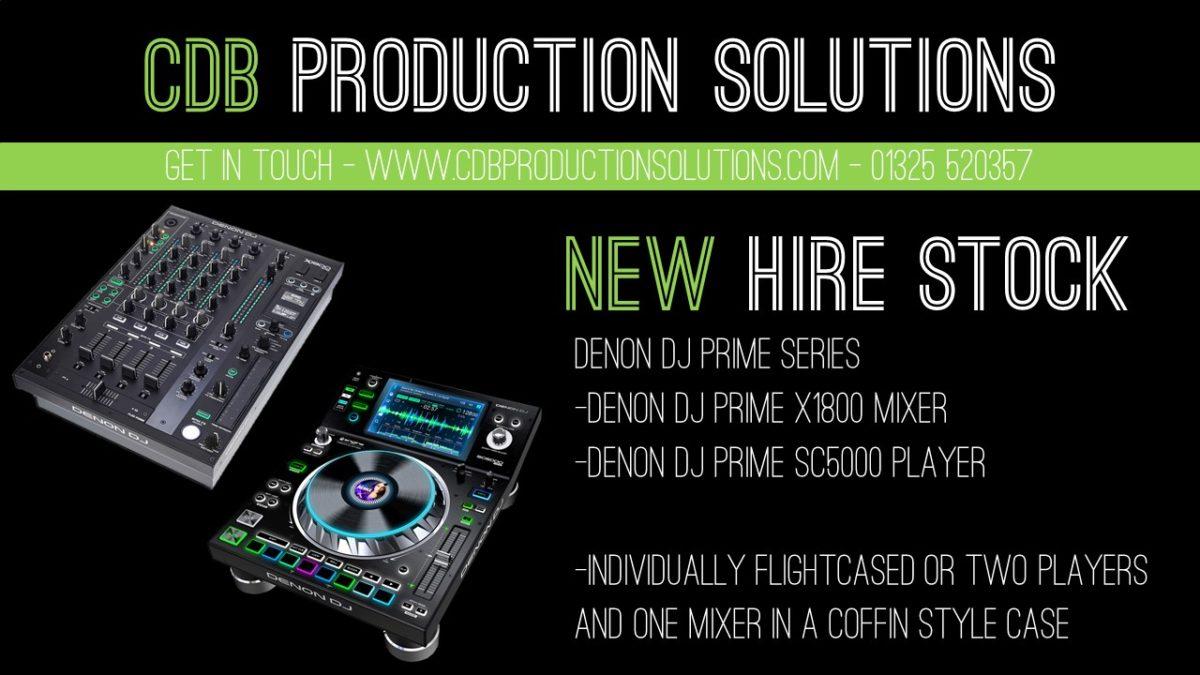 Denon DJ Prime Series Hire